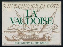 """Rare // Etiquette De Vin // Bateau à Voile // Blanc De La Côte, """"la Vaudoise"""" - Bateaux à Voile & Voiliers"""