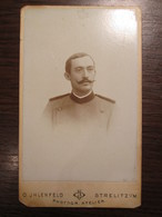 German Reich Officer CDV Cardboard Photo By O. Jhlenfeld / Strelitz - Guerre, Militaire