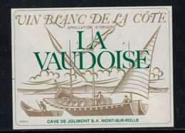 """Rare // Etiquette De Vin // Bateau à Voile // Blanc De La Côte, """"la Vaudoise"""" 50cl. - Bateaux à Voile & Voiliers"""