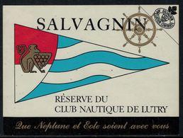 Rare // Etiquette De Vin // Bateau à Voile // Salvagnin, Réserve Du Club Nautique De Lutry - Bateaux à Voile & Voiliers
