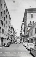 LUGANO → Via D. Posta  Mit Oldtimern (alte VW-Käfer) Anno 1956 - TI Tessin