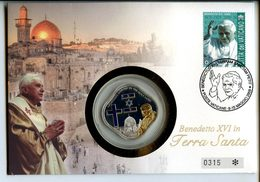 COOK ISLANDS 5 $ 2009 ARGENTO PROOF 999 SILVER+GOLD+SWAROVSKI APOSTOLIC JOURNEY HOLY LAND PROOF PESO 25g. TITOLO 0,999 C - Cook