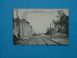 LUNEVILLE- Le Pont Du Chemin De Fer Sauté Sur La Route De Moncel - Luneville