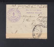 Front De Mer De Lorient 1917 Ouvert - Postmark Collection (Covers)