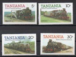 TANZANIE  Timbres Neufs ** De 1985  ( Ref 5868 )  Transport - Trains - Tanzania (1964-...)