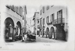 LUGANO → Via Canova Mit Passanten, Ca.1900 - TI Tessin