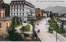 LUGANO → Nuovo Quai E Grande Hotel Splendide Und Tram, Ca.1920 - TI Tessin