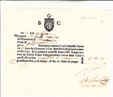 Mantegazza, Milano. Ricevuta Di Pagamento Alla Città. Anno 1662 - Vecchi Documenti