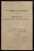 2e Régiment Du Génie  Cie 17/1 Historique 14-18 Somme Artois Champagne Verdun EtcPort France 1,56 € - Guerre 1914-18
