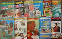 REVUE TIMBROSCOPIE Année 1986 Complète (n° 21 à 31). - Magazines