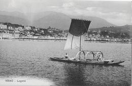 LUGANO → Segelschiff Vor Lugano, Ca.1920 - TI Tessin