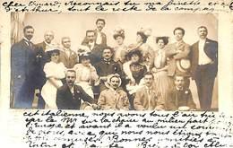 Fotokaart Carte Photo Groupe Compagnie Italienne (Studio Scherer New York Pour Mons (Clerfayt) 1906) - Groupes D'enfants & Familles