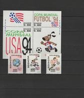 Ecuador 1994 Football Soccer World Cup Set Of 3 + S/s MNH - World Cup
