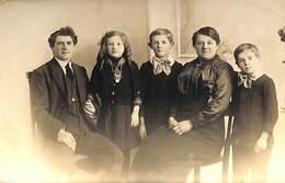 Fotokaart Carte Photo Groupe Famille Enfant (Windsor Studio Huddersfield And Somerset Halifax) - Groupes D'enfants & Familles