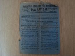 DOCUMENT PUBLICITAIRE  PAUL LAVIGNE FOURNITURES POUR AUTOMOBILES - Publicités