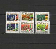 El Salvador 1994 Football Soccer World Cup Set Of 6 MNH - World Cup