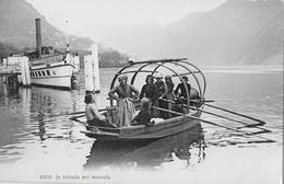 LAGO DI LUGANO - In Istrada Pel Mercato, Ca.1920   ►RRR◄ - TI Tessin