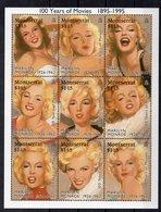 MONTSERRAT  Timbres Neufs ** De 1995 ( Ref 5871 ) Cinéma - Marilyn Monroe - 2 Scans - Montserrat