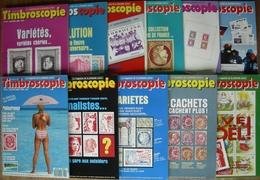REVUE TIMBROSCOPIE Année 1989 Complète (n°54 à 64). - Magazines