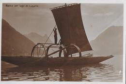 LAGO DI LUGANO - Barca Pel Lago Di Lugano, Ca.1930 - TI Tessin