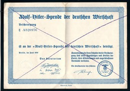 Adolf-Hitler-Spende Der Deutschen Wirtschaft - Documents
