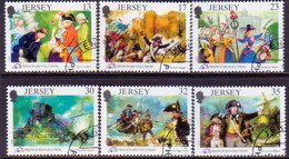 JERSEY 1989 SG #501-06 Compl.set Used French Revolution - Jersey