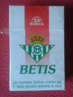 ANTIGUO PAQUETE DE 20 CIGARRILLOS TABACO SPAIN OLD TOBACCO PACKAGE CIGARETTES REAL BETIS FÚTBOL LA LIGA FOOTBALL SOCCER - Cigarette Holders