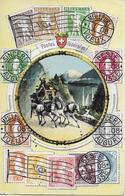 CASTASEGNA → Postes Fédérales  (Gasthof & Restaurant Castasegna) Anno 1910 - TI Tessin