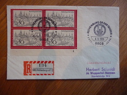 (S) DEUTSCHE BUNDESPOST DUITSLAND REGISTRED COVER 1969  SONDERSTEMPEL MIXED FRANKING - Lettres & Documents