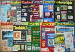 REVUE TIMBROSCOPIE Année 1993 Complète (n°98 à 108). - Magazines
