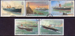 JERSEY 1989 SG #507-11 Compl.set Used Great Western Railway - Jersey