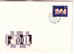 LIECHTENSTEIN MI-NR. 444 FDC CEPT 1964 KASTELL IN SCHAAN - 1964
