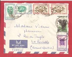 Y&T N°183+185++++ ABIDJAN    Vers  FRANCE 1961 2 SCANS - Côte D'Ivoire (1960-...)
