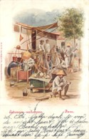 Indonésie - Java - Eetwaren-verkoopers - Par Vander Heyden - Indonésie