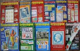 REVUE TIMBROSCOPIE Année 1995 Complète (n° 120 à 130). - Magazines