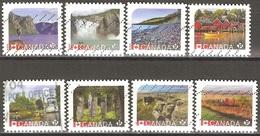 Canada - 2014 à 2016- Sites Du Patrimoine Mondial De L'UNESCO Au Canada - YT 2954, 2957, 2958, 3207 à 3211 Oblitérés - 1952-.... Règne D'Elizabeth II