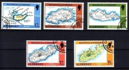 ALDERNEY MI-NR. 37-41 O LANDKARTEN 1989 - Alderney