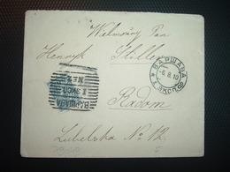 LETTRE TP 7 OBL. BAPWABA I 3KC0 N°2 + OBL. 6. 8. 10 - 1857-1916 Empire