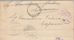 Giungano. 1924. Annullo Frazionario ( 57 - 91) Su Franchigia Con Testo. Al Verso CAPACCIO (57 - 38). - 1900-44 Vittorio Emanuele III