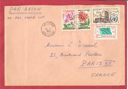 Y&T N°193A+207++ABIDJAN    Vers  FRANCE 1962 - Côte D'Ivoire (1960-...)