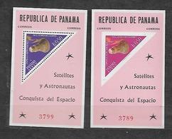 #B130# PANAMA MICHEL BL 19-20 MNH**. SPACE, TRIANGLE STAMP. - Panama