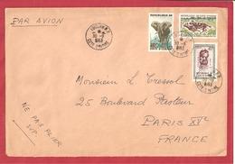 Y&T N°177+181++ABIDJAN    Vers  FRANCE 1963 - Côte D'Ivoire (1960-...)