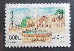 NO11 - Lebanon 1993 Fiscal Revenue Stamp 500L -  Palace Of Beit EdDine - Lebanon