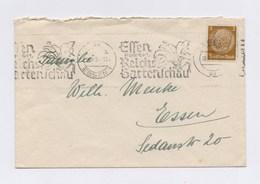 DR MWSt -  ESSEN, Reichs Gartenschau 1938 Auf Umschlag - Machine Stamps (ATM)