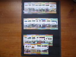 168 Timbres SPECIMEN, MUESTRA Thème TRAIN  Commenwealth ST Vincent, Ste Lucie, Grenadines, Tuvalu, Nevis SPLENDIDE - Timbres