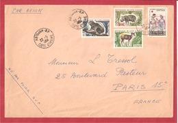 Y&T N°217+211+++ABIDJAN    Vers  FRANCE 1964 - Côte D'Ivoire (1960-...)