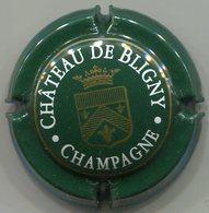 CAPSULE-CHAMPAGNE CHATEAU DE BLIGNY N°04a Vert Foncé Blanc & Or - Autres