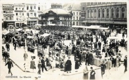 Ostende - Carte-Photo Edit. Em. Goes - Le Marché - Oostende