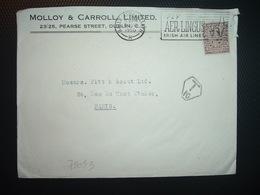 LETTRE TP 2 1/2 OBL.MEC.8 AUG 1950 + MOLLO & CARROLL LIMITED + DUBLIN + TAXE T 10 - 1949-... République D'Irlande