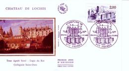 FRANCE -1986 - CHATEAU De LOCHES ( FDC ) - Châteaux